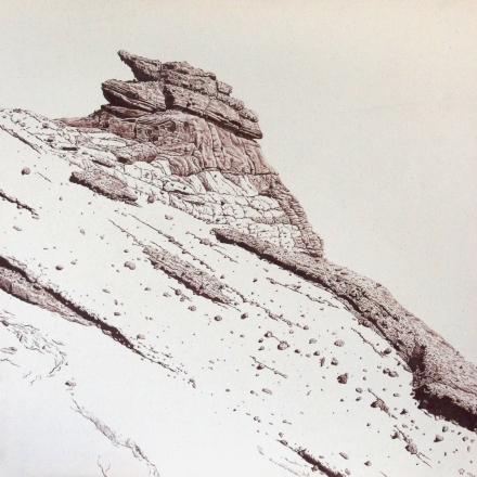 14.46, 86 x 86, graphite on canvas, 2020