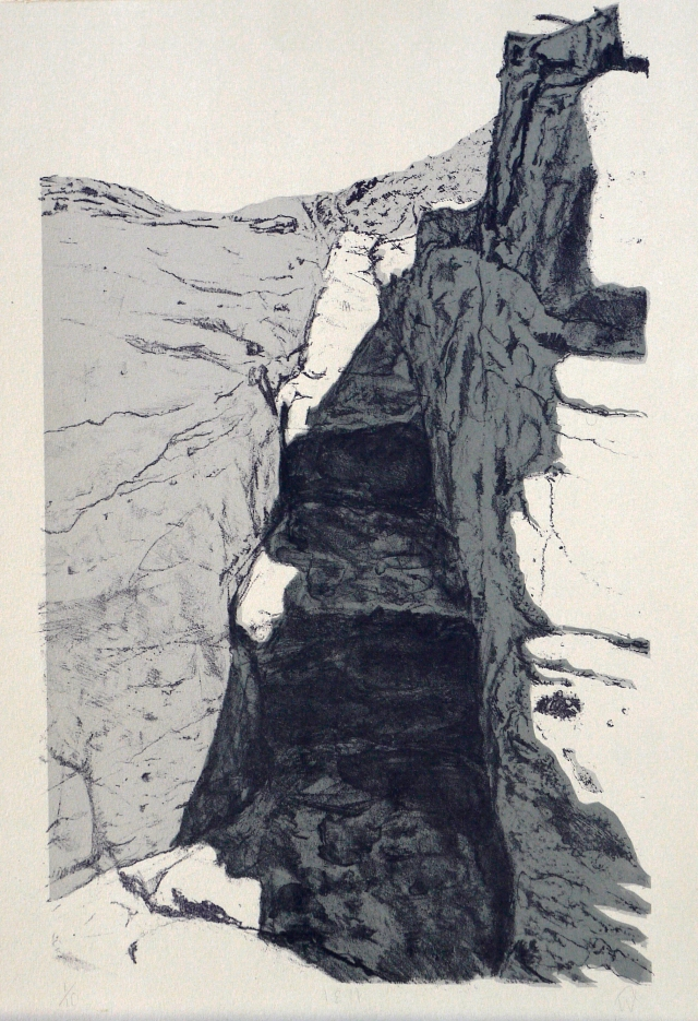 18.11, stone lithograph and silkcreen print on fabriano 28 x 41cm